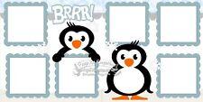 Scrapbook Page Kit Winter Penguin Snow Paper Piece PKEmporium 126