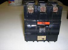 FPE Federal Pacific 30 AMP 3 Pole Stab-Lok Circut Breaker 240 volt NA330