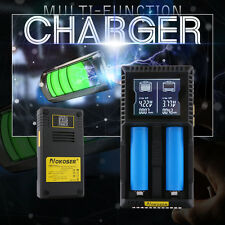 NOKOSER D2S 2 Slot LCD Intelligent Li-ion Battery fast Charger Lithium Ni-Mh AAA