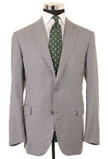 Pal Zileri Made in ITALY Gray Windowpane Check Super 150s Wool Sport Coat 42 R