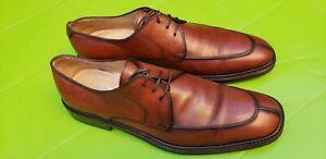 Salvatore Ferragamo Men's Shoes Brown Leather Derby US 10 UK 9  EU 43