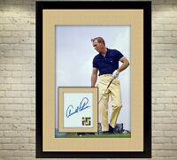 Arnold Palmer the king signed autograph Sports Golf Memorabilia With Frame 13x10