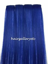 """12"""" Multi Color Clip-in Human Hair Extensions 4pcs for highligts streaks USA"""
