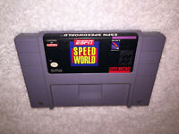 ESPN Speedworld (Super Nintendo System, 1994) SNES Game Cartridge Vr Nice!