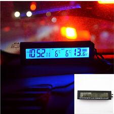 110mmx23mmx29mm Digital Volt Meter/Clock/Temp/Ice Alert Blue Backlit Backlight