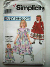 DAISY KINGDOM Girls 7-14 /& DOLL DRESS Sewing Pattern Simplicity 7550 or 8554