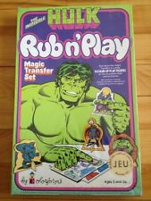 hulk rub n' play 1979 colorforms