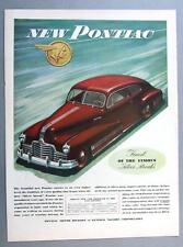 Original 1945 Pontiac Coupe Ad FINEST OF THE FAMOUS SILVER STREAKS