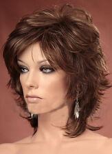 Ladies Short Wig Natural Tousled Layers Full Volume Medium Brown Fashion Wigs