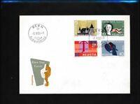 Schweiz 653-656 (kompl.Ausg.) FDC deutsch, ohne Beschriftung, einwandfrei