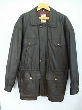 Jacket Mens Leather Threequarter Jacket Late 1980s Early 1990s Vintage  Large
