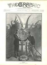 1905 Russia Japan Peace Agreement Drawn Sidney Hall
