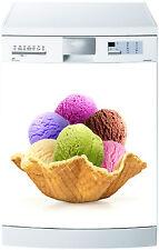 Sticker lave vaisselle déco cuisine électroménager glace couleur réf 687 60x60cm