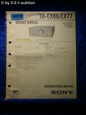 Sony Service Manual TA EX66 /EX77 Amplifier  (#6078)