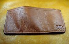Brown BUFFALO LEATHER TriFold Wallet hand crafted disabled Navy veteran USN 5042