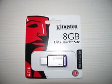 8 GB KINGSTON Data traveler DT50 USB 3.0 Flash Drive Pen Memoria portátil de música MP3