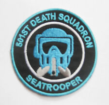 BLUE STARWARS IMPERIAL ARMY STORMTROOPER Death Squadron SEATROOPER Patch Badge
