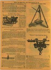1911 ADVERTISEMENT Diamond Steel Track Hay Trolley Carrier Provan's Patent