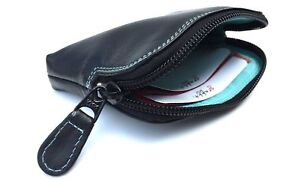 RFID Protected 7-143 Small Super Soft Leather Credit Card Holder Coin Zip Purse