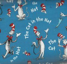 Cat in the Hat blue Dr Seuss Celebration Kaufman fabric