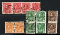 Canada - (5) Coil Pairs/ Strips Used / Nice Group     /     Lot 0720610
