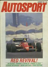 Autosport Nov 5th 1987 *Japanese GP & FF Festival*