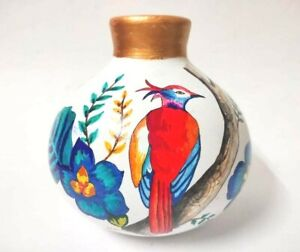 Hand Painted Terracotta Vase Modern Art For Home/Office Decoration