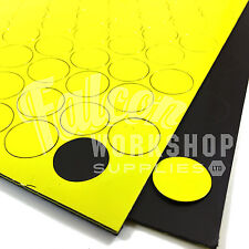 119 x YELLOW 20mm DIAMETER (0.85mm THICKNESS) MAGNETIC DOTS ROUND DISC MAGNETS