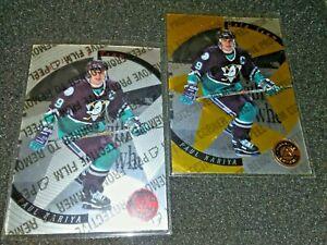 1997 Pinnacle NHL  Paul Kariya Certified Gold Team Serial # w/ Silver Card. 2