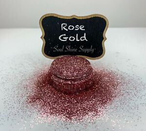Fine Rose Gold Pink Glitter Cosmetic Grade Solvent Resistant Nail Art Resin