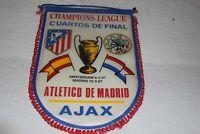 BANDERIN GRANDE 1/4 FINAL 1997 CHAMPIONS LEAGUE  ATLETICO MADRID-AJAX AMSTERDAN