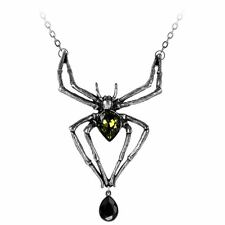 Official Alchemy Gothic Emerald Venom Pendant - Necklace Jewellery Spider