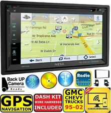 95-02 GMC CHEVY TRUCK GPS NAVIGATION CD/DVD BT SYSTEM BLUETOOTH CAR STEREO RADIO