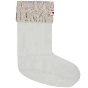Hunter Womens 6 Stitch Boot Socks Griege Size Medium (7-9) ZP-9599