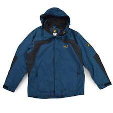 JACK WOLFSKIN Herren Jacke L 52 blau Kapuze TEXAPORE Trekking Jacket Outdoor TOP