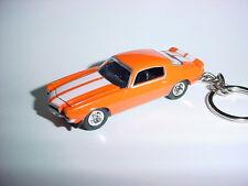 NEW 3D ORANGE 1970 CHEVROLET CAMARO Z28 CUSTOM KEYCHAIN keyring KEY 70' Z BLING!