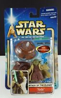 Hasbro Star Wars Attack of the Clones, YODA Jedi Master Action Figure NEW