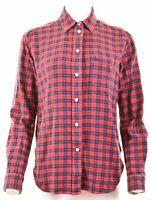 JACK WILLS Womens Flannel Shirt UK 12 Medium Multicoloured Check Cotton Boyfried