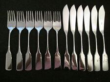 WMF Saturn Cromargan Fischbesteck 12 Teile 6 Fischmesser + 6 Fischgabel Note1-