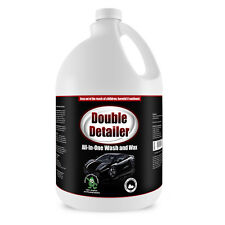 Double Detailer All In One Car Wash and Wax Non Toxic Auto Wash, 1 Gallon