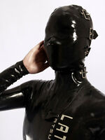 202 Latex Rubber Gummi Masks Hood blindfold neck corset customized catsuit 0.7mm