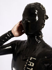 202 Latex Rubber Gummi Masks Hood blindfold neck corset customized catsuit 0.7mm