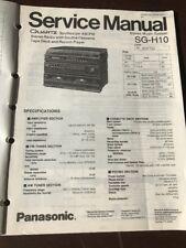 Original Panasonic Technics Model SG-H10 Stereo Music System Service Manual