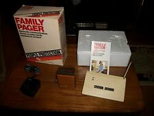 Vintage 80's Family Pager System Brand:People Protection Products