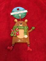 Christmas tree ornament Dangling Bear New Sweet Tidings