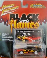 Johnny Lightning - Black with Flames - '70 Olds Cutlass 442