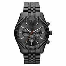 Michael Kors MK8320 Lexington All Black Large Men's Bracelet Watch Chronograph