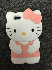 BABY PINK  3D Hello Kitty Silicone Soft Cover Case for IPHONE 5/5S
