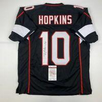 Autographed/Signed DEANDRE HOPKINS Arizona Black Football Jersey JSA COA Auto