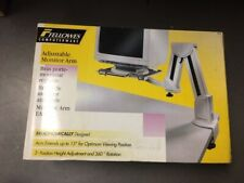 Fellowes 91705 Adjustable Monitor Arm (Platinum) NEW in box